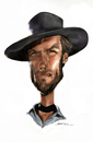 Cartoon: Clint Eastwood (small) by Jeff Stahl tagged clint,eastwood,cowboy,good,western