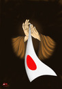 Cartoon: We pray to JAPAN (small) by aungminmin tagged cartoons