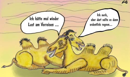 Cartoon: camels (medium) by Lutz-i tagged kamele,reisen