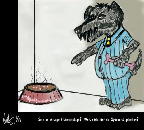 Cartoon: Spürhund oder was? (medium) by Lutz-i tagged hund,fressen,protest