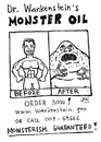 Cartoon: Monster oil (small) by Jani The Rock tagged monster,oil,ad,advertisement,commercial