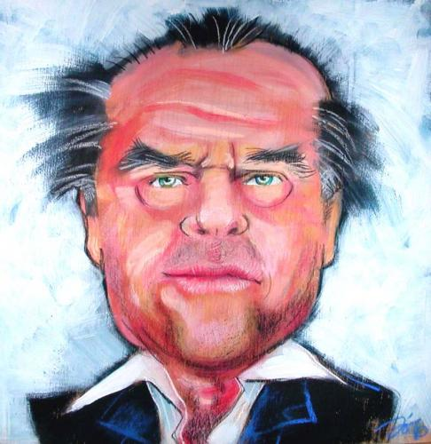 Cartoon: Jack Nicholson (medium) by Jollustration tagged jack,nicholson,acter,schauspieler,macho,mann