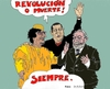 Cartoon: Autocrats Gadhafi Chavez Lula (small) by Fusca tagged corruption autocrats gadhafi chavez lula dictators