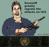 Cartoon: Rousseff condemns attack on ISIS (small) by Fusca tagged terror,rousseff,lula,pt,bolivarian,tyrants