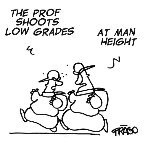 Cartoon: low grades at school (medium) by fragocomics tagged school,educational,education,grade,school,educational,education,grade