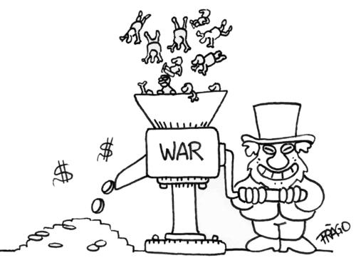 War kill people produce money