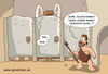 Cartoon: steinzeittoilette (small) by ChristianP tagged steinzeittoilette