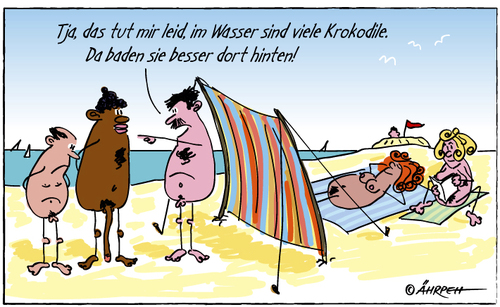 Cartoon Sex am Strand