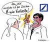 Cartoon: Aha!! (small) by rpeter tagged verluste,bank,deutsche,ackermann,victory