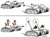 Cartoon: Deeskalation (small) by rpeter tagged panzer,mann,frau,soldat,sex,liebe,bedrohung
