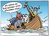 Cartoon: Dumm gelaufen (small) by rpeter tagged arche,noah,meer,boot,schiff,tiere