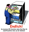Cartoon: Endlich (small) by rpeter tagged opel,vw,bmw,mercedes,auto,automobil,car