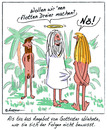 Cartoon: Falsche Antwort (small) by rpeter tagged eva,adam,paradies,gott,sex
