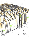 Cartoon: Labyrinth (small) by Monica Zanet tagged labyrinth,maze,free,zanet