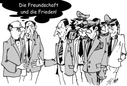 Cartoon: Wir sind doch Freunde? (medium) by medwed1 tagged schljachow,cartoon