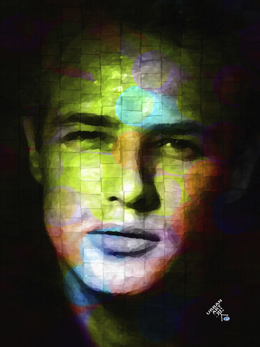 Cartoon: Marlon Brando (medium) by Zoran Spasojevic tagged collage,serbia,kragujevac,zoran,spasojevic,emailart,paske,man,digital,portrait,marlonbrando,brando,marlon