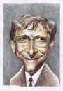 Cartoon: Bill Gates (small) by Joen Yunus tagged pencil,watercolor,caricature