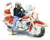 Cartoon: Harley Davidson Biker (small) by drawgood tagged biker,motorbike,harley