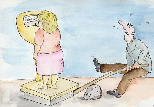 Cartoon: weight loss (medium) by Slawek11 tagged weight