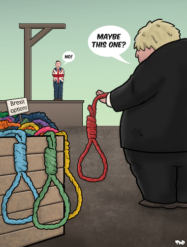 Cartoon: Maybe This One (medium) by Tjeerd Royaards tagged uk,europe,eu,brexit,deal,no,boris,johnson,uk,europe,eu,brexit,deal,no,boris,johnson