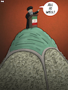 Cartoon: All is well (small) by Tjeerd Royaards tagged iran,coverup,coronavirus,corona,pandemic,victims,trruth,lies