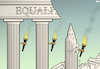Cartoon: Crumbling Facade (small) by Tjeerd Royaards tagged racism,kkk,equality,unequal,inequality,race