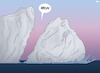 Cartoon: Cry for Help (small) by Tjeerd Royaards tagged climate,change,ice,antarctica,iceberg,collapse,help