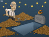 Cartoon: Euro bailout (small) by Tjeerd Royaards tagged euro,bailout,crisis,economy,money,currency