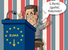Cartoon: Expulsions of Roma (small) by Tjeerd Royaards tagged roma,sarkozy,france,gypsie,deportation,crime