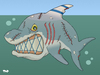 Cartoon: Mean old shark (small) by Tjeerd Royaards tagged israel gaza palestine netanyahu assoult peace war violence