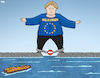 Cartoon: Merkel and Migrants (small) by Tjeerd Royaards tagged migration,eu,merkel