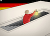 Cartoon: Merkel Into the Unknown (small) by Tjeerd Royaards tagged merkel,germany,elections,coalition,crisis,jamaica,far,right,extreme,afd,ballot,box