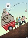 Cartoon: Neoliberalism (small) by Tjeerd Royaards tagged company,multinational,ceo,work,money,wealth,bonus