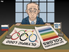 Cartoon: Olympics Are Gay Propaganda (small) by Tjeerd Royaards tagged putin,russia,gay,homosexual,values,family,tradition,olympics,sochi