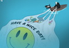 Cartoon: Plastic in Our Oceans (small) by Tjeerd Royaards tagged plastic,ocean,sea,fish,pollution,environment,economy,bag