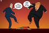 Cartoon: Proxy War (small) by Tjeerd Royaards tagged syria,usa,russia,war,conflict,violence,victim