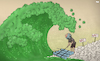 Cartoon: Third wave (small) by Tjeerd Royaards tagged corona,third,wave,victims,death,vaccine,earth,pandemic,virus
