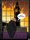 Cartoon: Trump visits the UK (small) by Tjeerd Royaards tagged trump,theresa,may,brexit