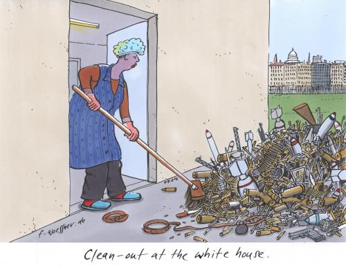 white house cleaning