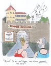 Cartoon: summer festival (small) by woessner tagged summer,festival,konzert,open,air,rock,musik,burg,event,jugend