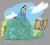 Cartoon: DRAGON and PRINCESS (small) by JARO tagged dragon princess books