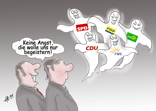 Cartoon: Sie wollen uns begeistern (medium) by Henrich tagged politik