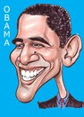 Cartoon: Caricature of Barack Obama (small) by Steve Nyman tagged caricature,of,barack,obama