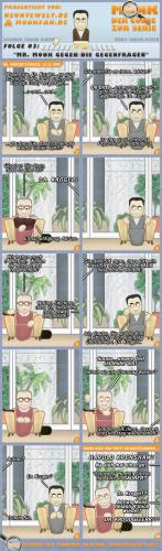 Cartoon: MONK - Folge 03 - Mr. Monk ge... (medium) by Blitz-Opa tagged adrian,monk,comic,cartoon,blitzopa,neuntewelt