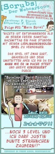 Cartoon: Scrubs - Folge 01 - Mein Spiel (medium) by Blitz-Opa tagged scrubs,cartoon,comic,blitzopa,neuntewelt