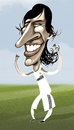 Cartoon: Raul Gonzalez Blanco (small) by pincho tagged raul,gonzalez,blanco,real,madrid,capitan,merengue,delantero,siete,seleccion