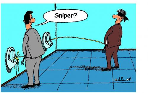 Cartoon: Sniper (medium) by Aleksandr Salamatin tagged sniper