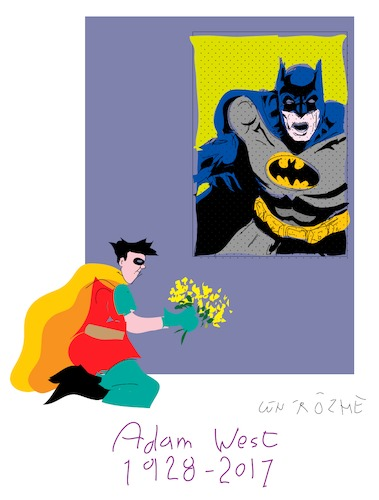 Cartoon: Batman and Robin (medium) by gungor tagged usa,usa,adam,west,batman,schauspieler,superheld