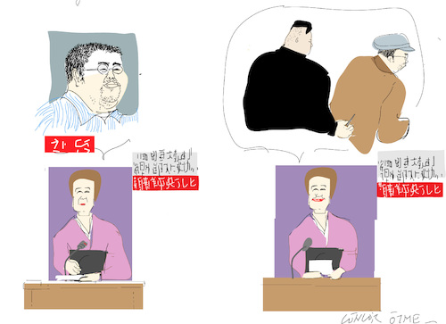 Cartoon: BrotherhoodK (medium) by gungor tagged north,korea