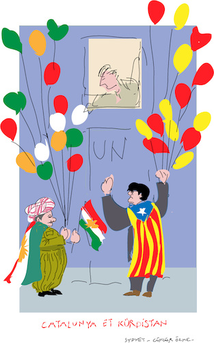 Cartoon: Catalan and Kurd (medium) by gungor tagged world